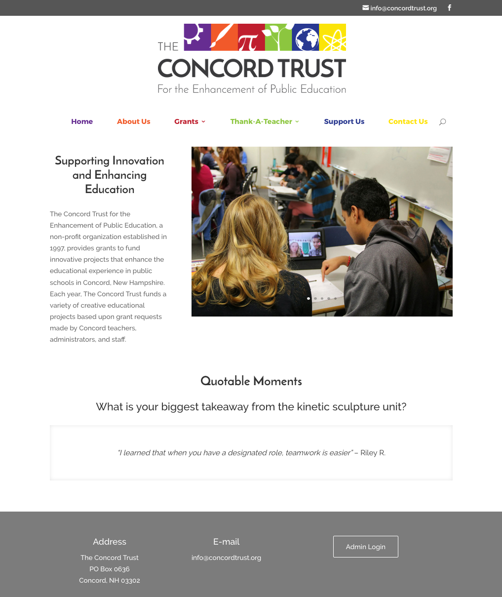 The Concord Trust Website