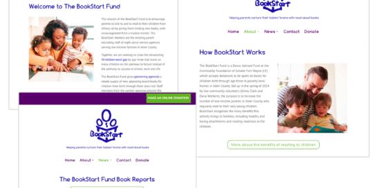 BookStart Fund Website