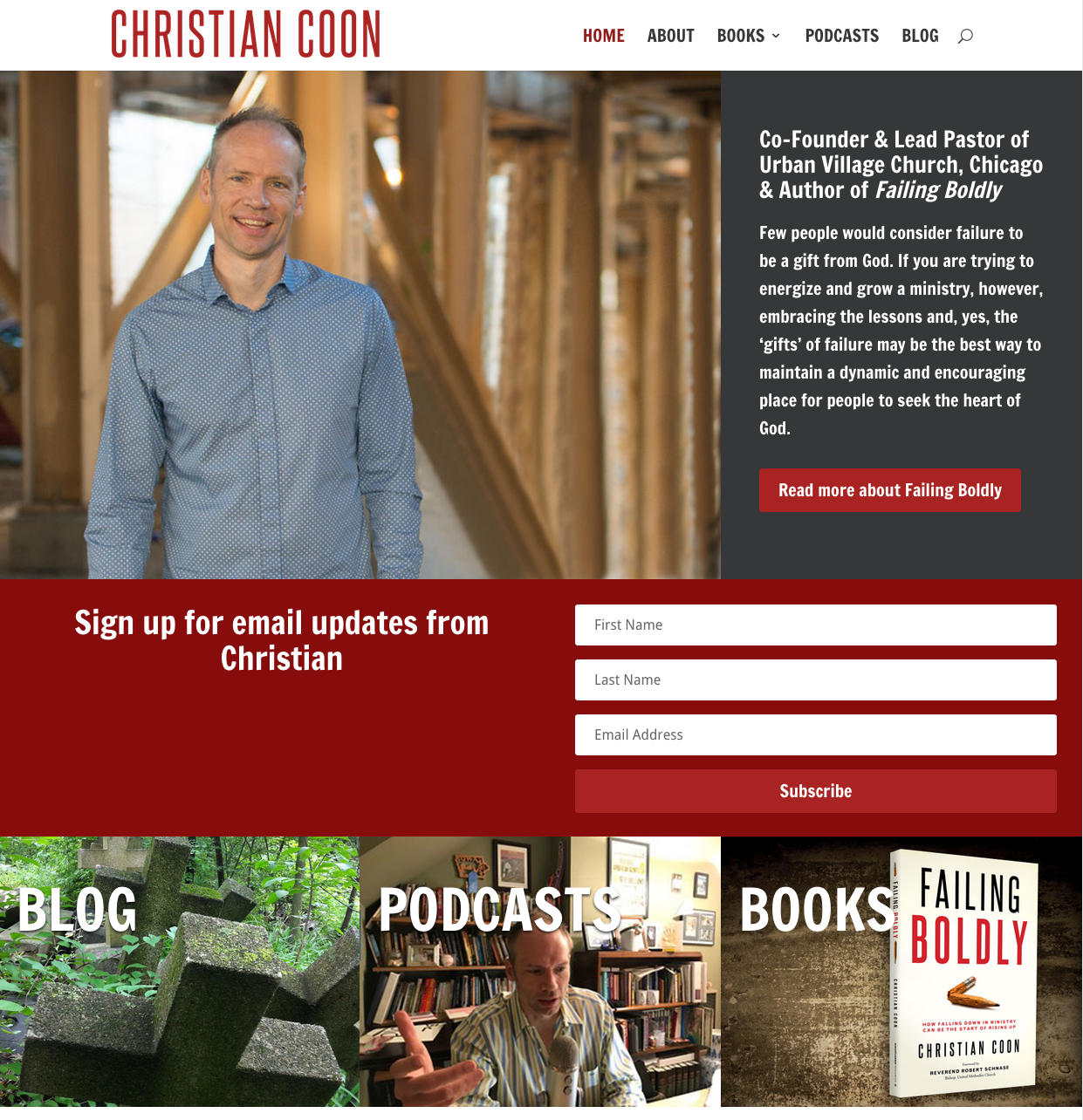 Christian Coon, Website